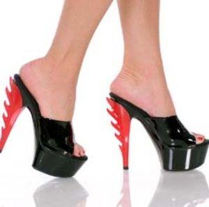 Ignited Flame Heel Platforms - Highest Heel